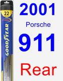 Rear Wiper Blade for 2001 Porsche 911 - Hybrid