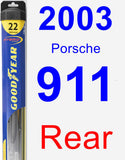 Rear Wiper Blade for 2003 Porsche 911 - Hybrid