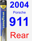 Rear Wiper Blade for 2004 Porsche 911 - Hybrid