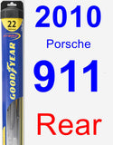 Rear Wiper Blade for 2010 Porsche 911 - Hybrid