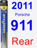 Rear Wiper Blade for 2011 Porsche 911 - Hybrid