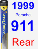 Rear Wiper Blade for 1999 Porsche 911 - Hybrid