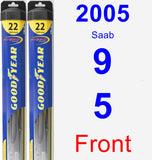Front Wiper Blade Pack for 2005 Saab 9-5 - Hybrid