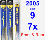 Front & Rear Wiper Blade Pack for 2005 Saab 9-7x - Hybrid