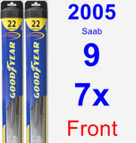Front Wiper Blade Pack for 2005 Saab 9-7x - Hybrid