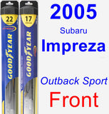 Front Wiper Blade Pack for 2005 Subaru Impreza - Hybrid