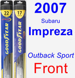 Front Wiper Blade Pack for 2007 Subaru Impreza - Hybrid