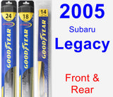 Front & Rear Wiper Blade Pack for 2005 Subaru Legacy - Hybrid