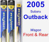 Front & Rear Wiper Blade Pack for 2005 Subaru Outback - Hybrid