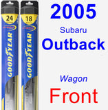 Front Wiper Blade Pack for 2005 Subaru Outback - Hybrid