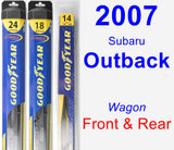 Front & Rear Wiper Blade Pack for 2007 Subaru Outback - Hybrid