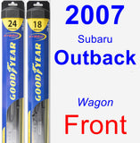 Front Wiper Blade Pack for 2007 Subaru Outback - Hybrid