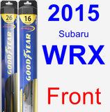 Front Wiper Blade Pack for 2015 Subaru WRX - Hybrid