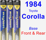 Front & Rear Wiper Blade Pack for 1984 Toyota Corolla - Hybrid