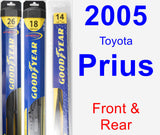 Front & Rear Wiper Blade Pack for 2005 Toyota Prius - Hybrid
