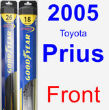Front Wiper Blade Pack for 2005 Toyota Prius - Hybrid