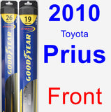 Front Wiper Blade Pack for 2010 Toyota Prius - Hybrid