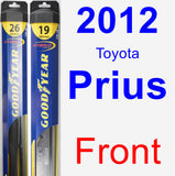 Front Wiper Blade Pack for 2012 Toyota Prius - Hybrid