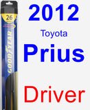 Driver Wiper Blade for 2012 Toyota Prius - Hybrid