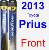 Front Wiper Blade Pack for 2013 Toyota Prius - Hybrid