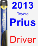 Driver Wiper Blade for 2013 Toyota Prius - Hybrid