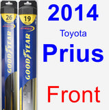 Front Wiper Blade Pack for 2014 Toyota Prius - Hybrid
