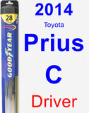 Driver Wiper Blade for 2014 Toyota Prius C - Hybrid