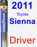Driver Wiper Blade for 2011 Toyota Sienna - Hybrid
