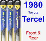Front & Rear Wiper Blade Pack for 1980 Toyota Tercel - Hybrid