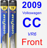Front Wiper Blade Pack for 2009 Volkswagen CC - Hybrid