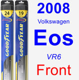 Front Wiper Blade Pack for 2008 Volkswagen Eos - Hybrid
