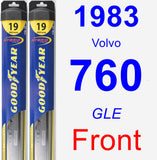 Front Wiper Blade Pack for 1983 Volvo 760 - Hybrid