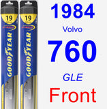 Front Wiper Blade Pack for 1984 Volvo 760 - Hybrid