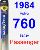 Passenger Wiper Blade for 1984 Volvo 760 - Hybrid