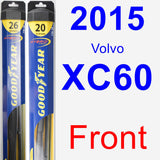 Front Wiper Blade Pack for 2015 Volvo XC60 - Hybrid
