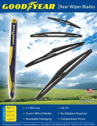 Goodyear Windshield Wipers >> Front Rear Wiper Blade Pack For 2015 Honda Fit Hybrid