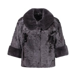 BETTY JACKET IN CHARCOAL
