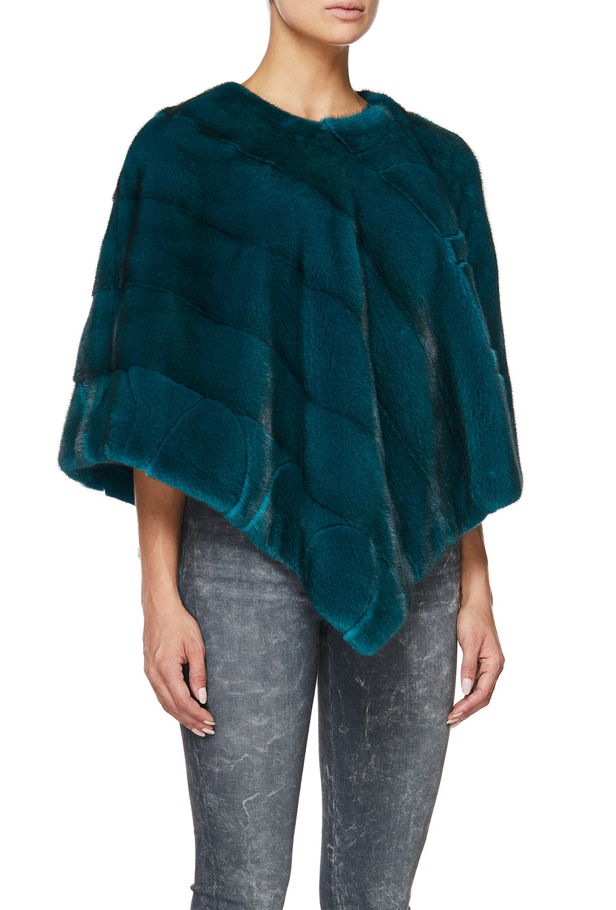 BLISS PONCHO IN TEAL