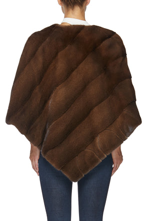 BLISS PONCHO IN MAHOGANY