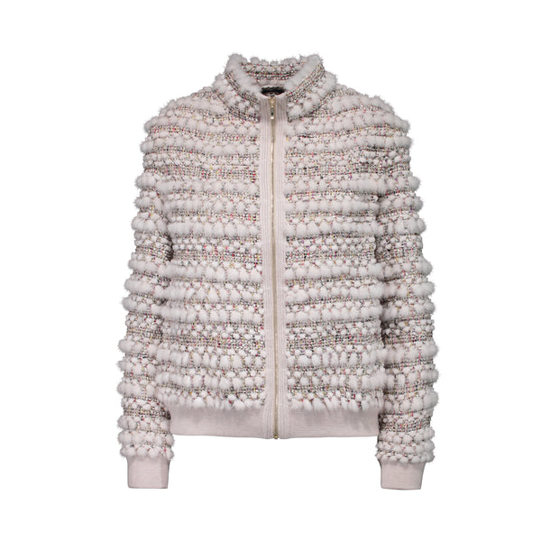 CECILY KNIT JACKET IN STAR WHITE