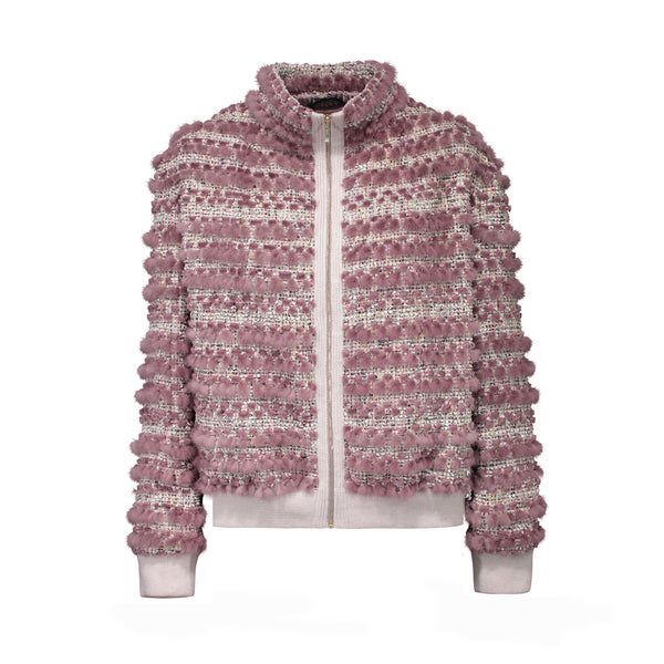 CECILY KNIT JACKET IN DUSTY PINK