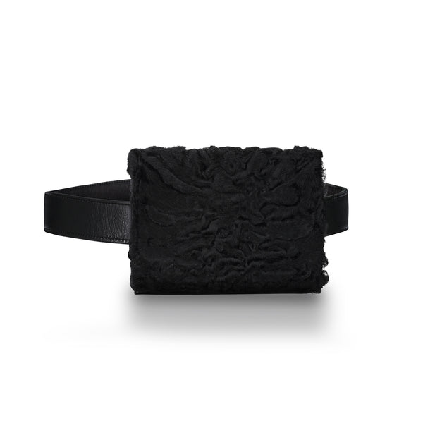 LARA BELT BAG IN JET BLACK