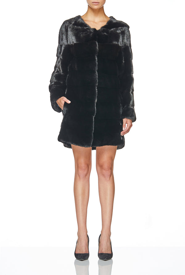 MIMI COAT IN JET BLACK
