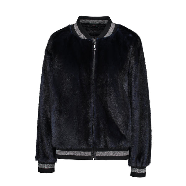 QUINN BOMBER IN NAVY MINK