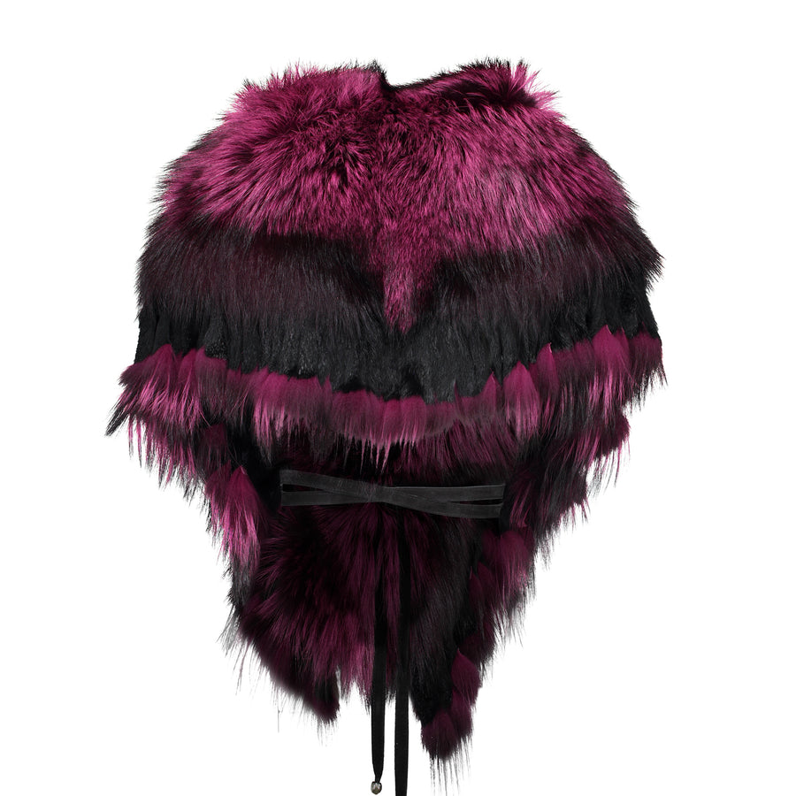 FRINGE COLLAR IN FUSHIA