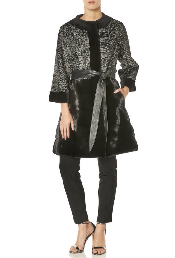 DIANA COAT IN CHARCOAL