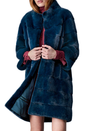 THE MELYSSA COAT IN COBALT