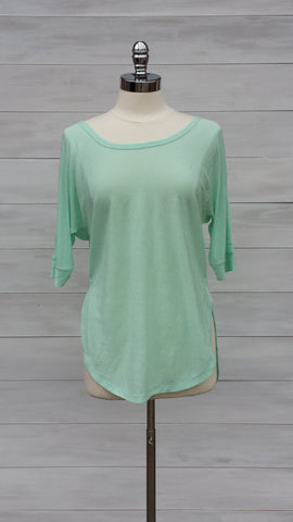 Lilium light knit tunic top.Orb. Sea Foam