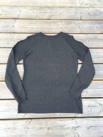 Juliet keyhole shoulder sweater. Charcoal Grey. Orb