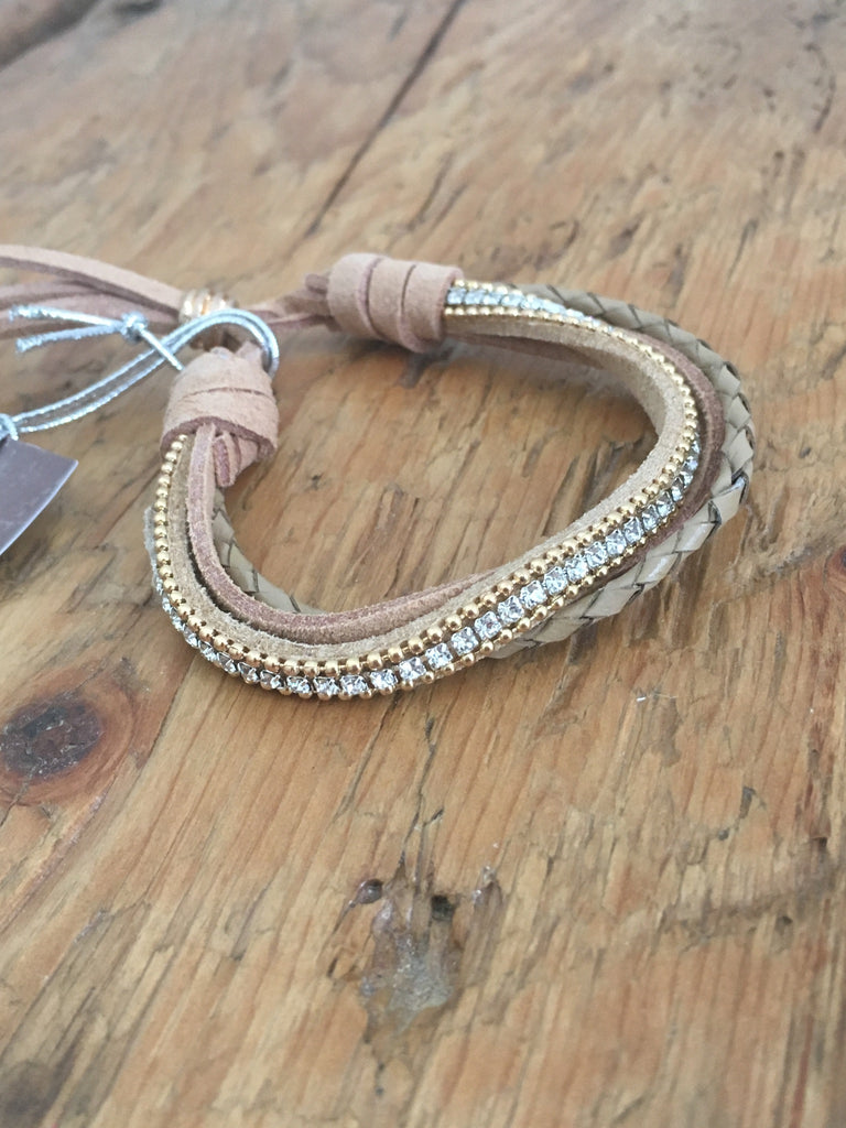 Isadora tan leather bracelet. Lucy the First